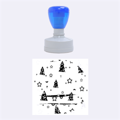 Gray Xmas magic Rubber Round Stamps (Medium)