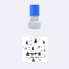 Gray Xmas magic Rubber Round Stamps (Small)