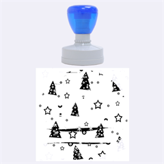 Gray Xmas Magic Rubber Round Stamps (large)