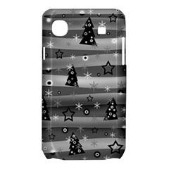 Gray Xmas magic Samsung Galaxy SL i9003 Hardshell Case