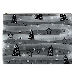 Gray Xmas magic Cosmetic Bag (XXL)
