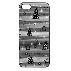 Gray Xmas magic Apple iPhone 5 Seamless Case (Black)