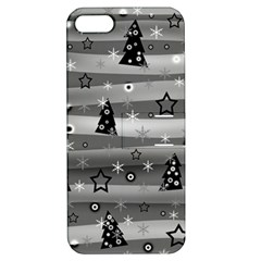 Gray Xmas magic Apple iPhone 5 Hardshell Case with Stand