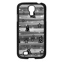 Gray Xmas magic Samsung Galaxy S4 I9500/ I9505 Case (Black)