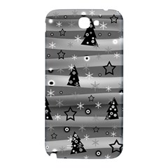 Gray Xmas magic Samsung Note 2 N7100 Hardshell Back Case