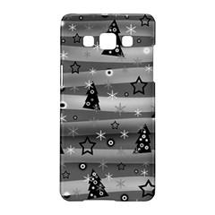 Gray Xmas magic Samsung Galaxy A5 Hardshell Case