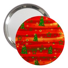 Xmas magic 3  Handbag Mirrors