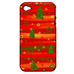 Xmas magic Apple iPhone 4/4S Hardshell Case (PC+Silicone)