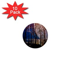 Full Moon Forest Night Darkness 1  Mini Buttons (10 pack)