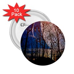 Full Moon Forest Night Darkness 2.25  Buttons (10 pack)