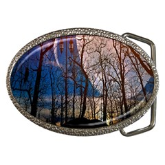 Full Moon Forest Night Darkness Belt Buckles