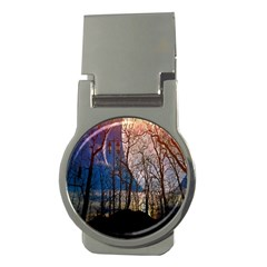 Full Moon Forest Night Darkness Money Clips (Round)
