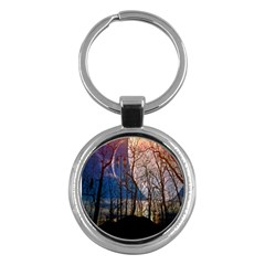 Full Moon Forest Night Darkness Key Chains (Round)