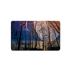 Full Moon Forest Night Darkness Magnet (Name Card)
