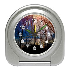 Full Moon Forest Night Darkness Travel Alarm Clocks