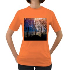 Full Moon Forest Night Darkness Women s Dark T-Shirt