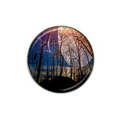 Full Moon Forest Night Darkness Hat Clip Ball Marker (4 pack)