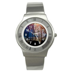 Full Moon Forest Night Darkness Stainless Steel Watch