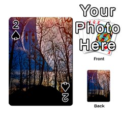 Full Moon Forest Night Darkness Playing Cards 54 Designs