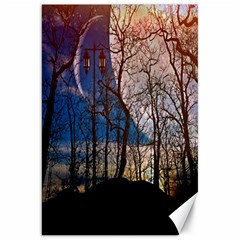 Full Moon Forest Night Darkness Canvas 20  x 30