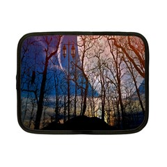 Full Moon Forest Night Darkness Netbook Case (Small)
