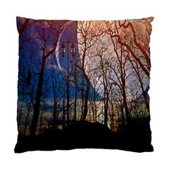 Full Moon Forest Night Darkness Standard Cushion Case (Two Sides)