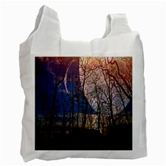 Full Moon Forest Night Darkness Recycle Bag (Two Side)