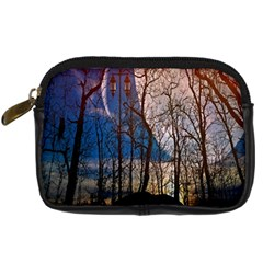 Full Moon Forest Night Darkness Digital Camera Cases