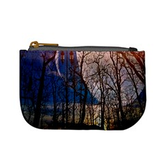 Full Moon Forest Night Darkness Mini Coin Purses
