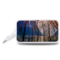 Full Moon Forest Night Darkness Portable Speaker (White)