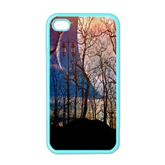 Full Moon Forest Night Darkness Apple iPhone 4 Case (Color)