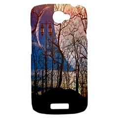 Full Moon Forest Night Darkness HTC One S Hardshell Case