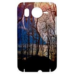 Full Moon Forest Night Darkness HTC Desire HD Hardshell Case