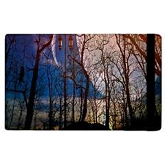 Full Moon Forest Night Darkness Apple iPad 3/4 Flip Case