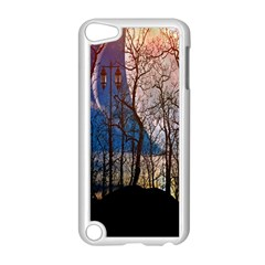 Full Moon Forest Night Darkness Apple iPod Touch 5 Case (White)