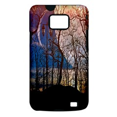 Full Moon Forest Night Darkness Samsung Galaxy S II i9100 Hardshell Case (PC+Silicone)