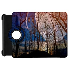 Full Moon Forest Night Darkness Kindle Fire HD Flip 360 Case