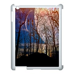Full Moon Forest Night Darkness Apple iPad 3/4 Case (White)
