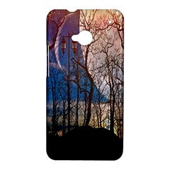 Full Moon Forest Night Darkness HTC One M7 Hardshell Case