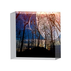 Full Moon Forest Night Darkness 4 x 4  Acrylic Photo Blocks