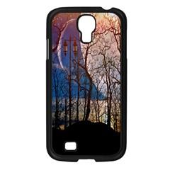 Full Moon Forest Night Darkness Samsung Galaxy S4 I9500/ I9505 Case (Black)