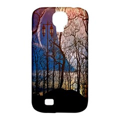 Full Moon Forest Night Darkness Samsung Galaxy S4 Classic Hardshell Case (PC+Silicone)