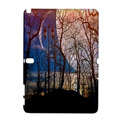 Full Moon Forest Night Darkness Samsung Galaxy Note 10.1 (P600) Hardshell Case