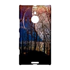 Full Moon Forest Night Darkness Nokia Lumia 1520