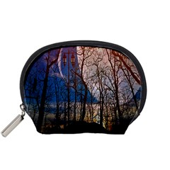 Full Moon Forest Night Darkness Accessory Pouches (Small)