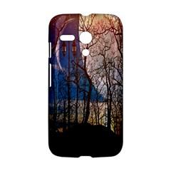 Full Moon Forest Night Darkness Motorola Moto G