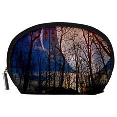 Full Moon Forest Night Darkness Accessory Pouches (Large)