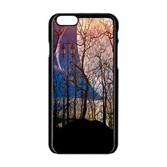 Full Moon Forest Night Darkness Apple iPhone 6/6S Black Enamel Case