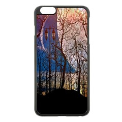 Full Moon Forest Night Darkness Apple iPhone 6 Plus/6S Plus Black Enamel Case