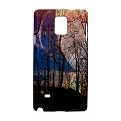 Full Moon Forest Night Darkness Samsung Galaxy Note 4 Hardshell Case